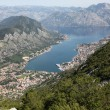 Bay of Kotor and Historic town of Kotor, Montenegro — ストック写真
