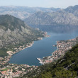 Bay of Kotor and Historic town of Kotor, Montenegro — Stok fotoğraf