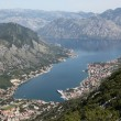 Bay of Kotor and Historic town of Kotor, Montenegro — Stock fotografie