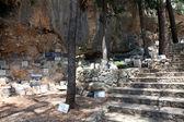 Tablettes votives au sanctuaire de notre dame de lourdes en vepric, croatie — Photo