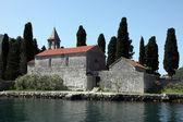 St の教会ジョージ、ポドゴリツァ、コトル、モンテネグロの湾 — ストック写真