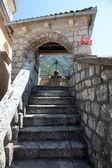 Escalera, nuestra señora de la iglesia de la roca en perast, montenegro — Foto de Stock