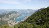 Bay of Kotor and Historic town of Kotor, Montenegro — Stock Photo