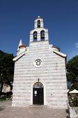 Iglesia ortodoxa de la santísima trinidad en budva, montenegro — Foto de Stock