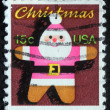 A greeting Christmas stamp printed in USA showing Santa Claus, circa 1980 — Stock Photo #19430653