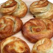 Burek, pie with meat, cheese or spinach - Stock Photo