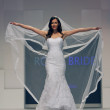 Wedding dress fashion show — Stock Photo