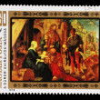 "Stamp printed in Hungary, shows a picture of artist Albrecht Durer ""Adoration of the Magi"" — Foto Stock"