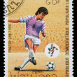 Stock Photo: Stamp printed by Laos, shows soccer championships