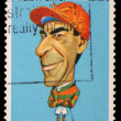 Stamp printed in Australia shows Australian sportsmen Jockey Darby Munro — Stock Photo