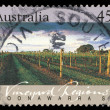 Stamp printed in AUSTRALIA shows the Coonawarra, Vineyard Regions — Stock Photo