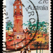 Stamp printed in AUSTRALIA shows the Historic Australian Post Offices, Launceston — Stock Photo