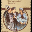 Stock Photo: Stamp printed in Australia, shows Sentimental Bloke