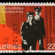 图库照片: Stamp printed in Australihonoring Community Welfare, Salvation Army