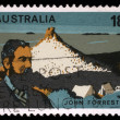 Stamp printed in Australia shows John Forrest — Stock Photo #27458857
