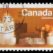 A greeting Christmas stamp printed by Canada — Stock Photo