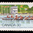 Stock Photo: Stamp printed by Canada, shows Royal CanadiHenley Regatta
