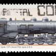Stamp printed by Canada, shows locomotive — Stock Photo