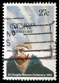 Stamp printed in Australian Antartic Territory dedicated to Sir Douglas Mawson — Stock Photo