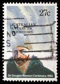 Stamp printed in Australian Antartic Territory dedicated to Sir Douglas Mawson — Stock Photo
