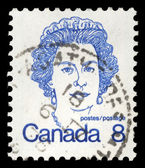 Stamp printed by Canada, shows Queen Elizabeth II — Stockfoto