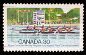 Stamp printed by Canada, shows Royal Canadian Henley Regatta — Stock Photo