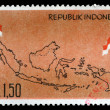 Stamp printed by Indonesia — Stock Photo