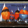 Stamp printed in the Ajman shows Sailing, Summer Olympics — Stock Photo