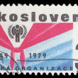 Stamp from Czechoslovakia shows image commemorating the 30th anniversary of the Pioneer movement for children in Czechoslovakia — Stock Photo