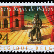 Stamp printed by Belgium shows Royal Opera of Wallonie — Stock Photo