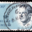 Stamp printed in BELGIUM shows image portrait Albert II — Stock Photo