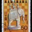 Stamp printed by Vietnam dedicated to Chess — ストック写真