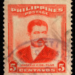 Stamp printed in Philippines shows Marcelo H.Del Pilar — Stock Photo