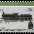 Stamp printed in Grenadines of St. Vincent shows Hull and Barnsley Railway class LS 0-6-0, 1915 U.K — Stock Photo