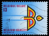 Stamp printed by Belgium shows Year of Belgian Export — Stock Photo