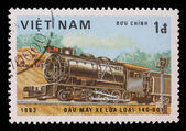 Stamp printed in the Vietnam, shows steam locomotive Class 140-601 — Stock Photo
