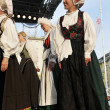 Members of folk groups Triglav from Slovenia — Stok fotoğraf