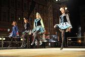 Members of folk groups O'Shea-Ryan Irish Dancers from Australia — Stock Photo