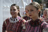 Members of folk groups from Bistra in Croatia national costume — Stock Photo