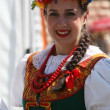 Stock Photo: Members of ensemble song and dance Warsaw School of Economics in Polish national costume
