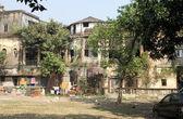 Casa patio tradicional en central kolkata, india — Foto de Stock