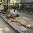 Stock Photo: Streets of Kolkata. Thousands of beggars are most disadvantaged castes living in streets.