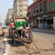 Stock Photo: Rickshaw mwaits for customer, Kolkata, India