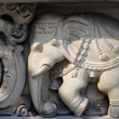 Stone carvings in Hindu temple Birla Mandir in Kolkata, India — Stock Photo