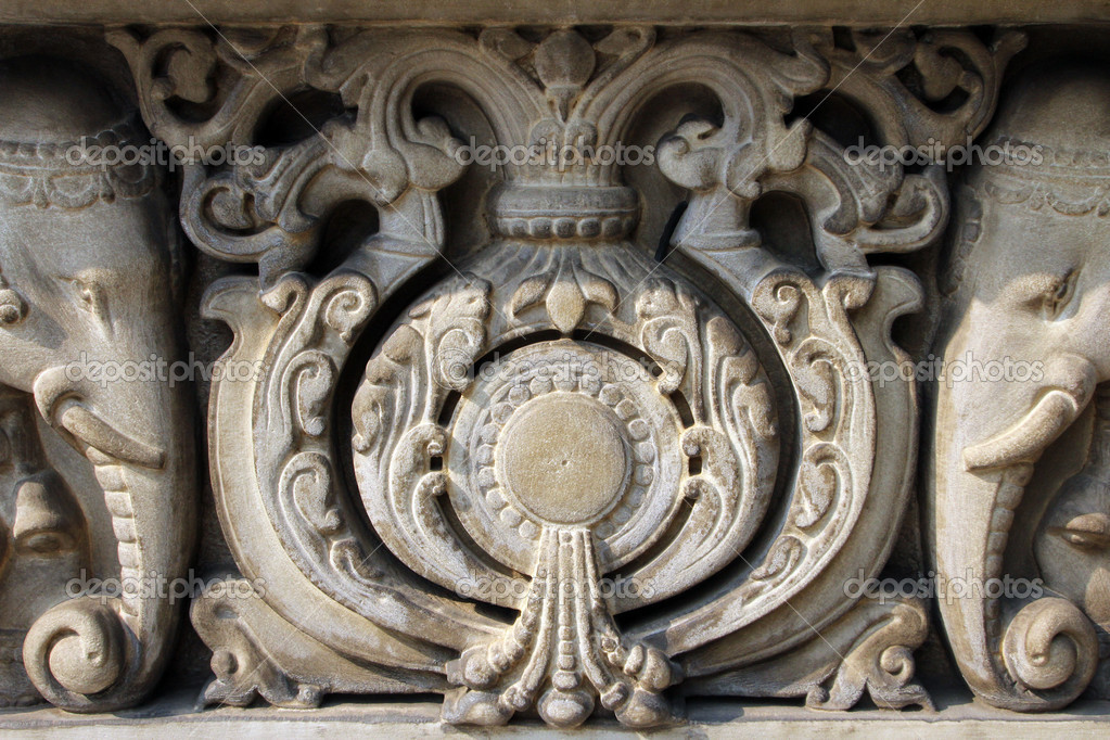 Stone carvings in hindu temple birla mandir kolkata
