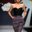 Stock Photo: Fashion model wearing clothes designed by Envy Room on 'Fashion.hr' show