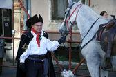Cravat Regiment at a ceremony celebrating the day tie — Stock Photo