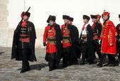 Cravat Regiment im Rahmen einer Zeremonie feiern die Tag-Krawatte — Stockfoto