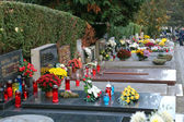 Zagreb cemetery Mirogoj on All Saints Day — Stok fotoğraf