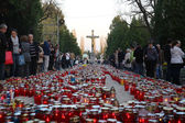 Zagreb cemetery Mirogoj on All Saints Day — Foto de Stock